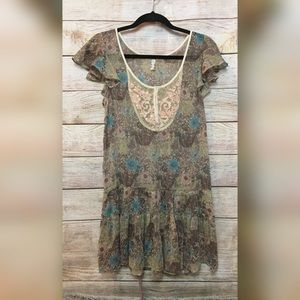 Free People Rustic Floral Tunic